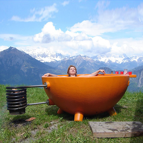 Hot Cup Of Tub Portable Wood Fired Outdoor Soaking Pool