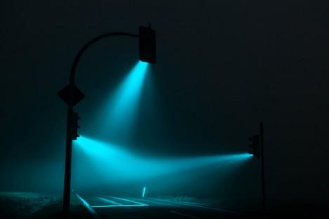 rainbow night light green
