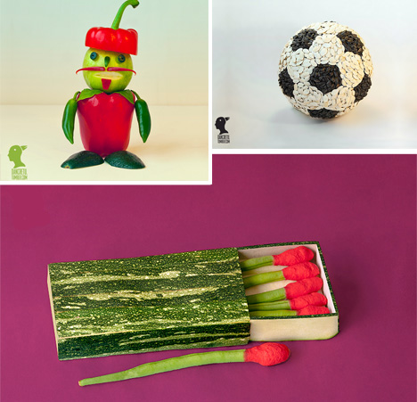 regular objects made of food