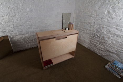small desk in context