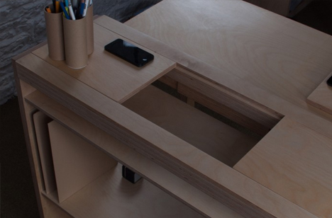 small desk modular panels