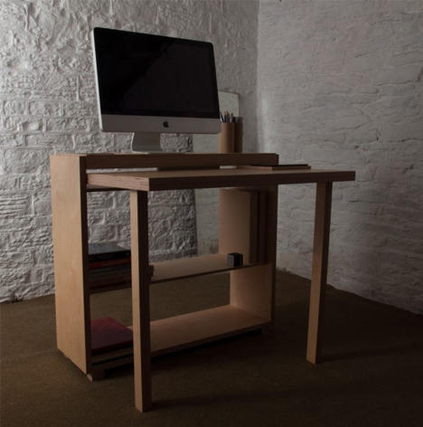 small desk open design