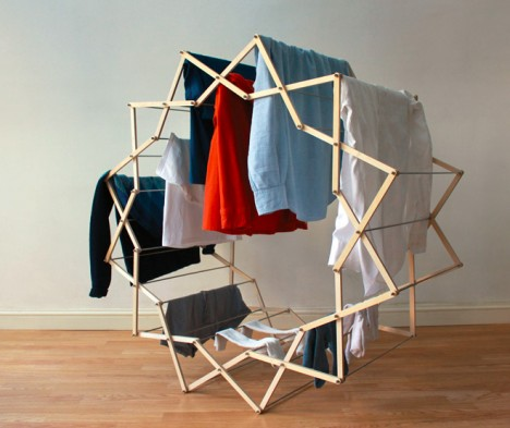 space interior clothes horse
