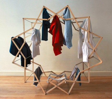 Fresh Spin Rounded Space Saving Clothes Drying Rack Urbanist