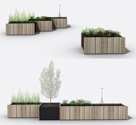 urban farm planting platforms