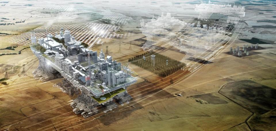 Nomadic urbanism futuristic walking city draws on for City of la 457