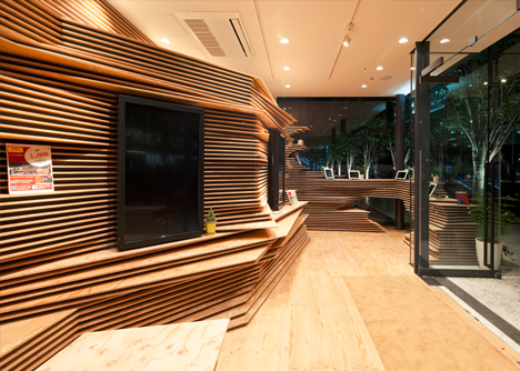 wood interior custom space