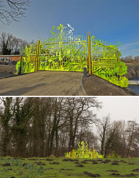 3D Graffiti school garden gate