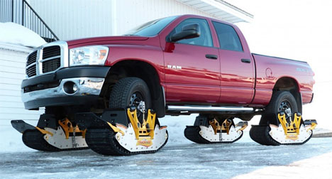 Convert Truck Snowmobile 3