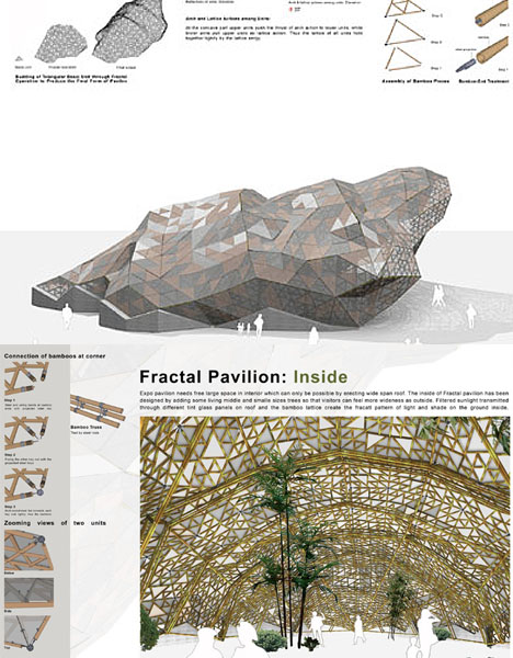 Fractal Architecture Bamboo Pavilion
