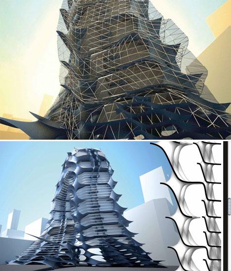 Fractal Architecture Parametric Skyscraper