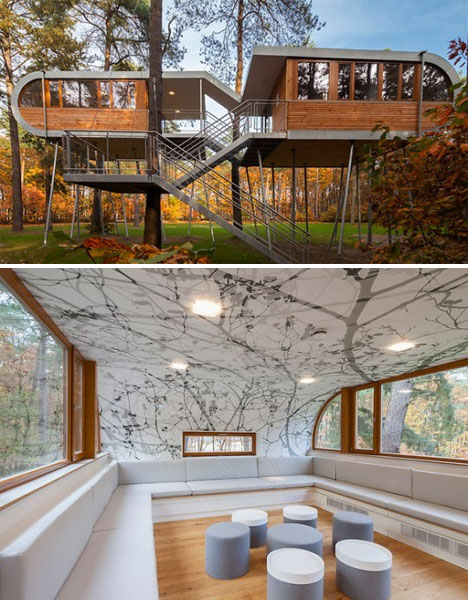 Modern tree houses 14 awesome arboreal dwelling designs for Modern tree house designs