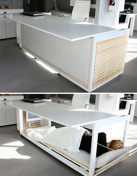Napping Furniture Transforming Desk