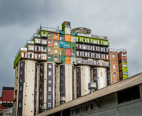 Shipping Container Silo Student Housing 1
