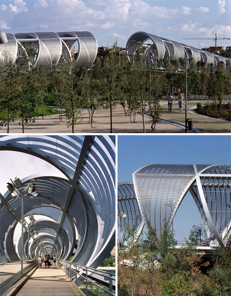 Wonderful Arganzuela Footbridge. Spiral Architecture Arganzuela Design Inspirations
