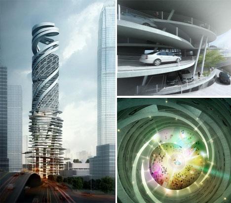 Spiraling Architecture Car Park