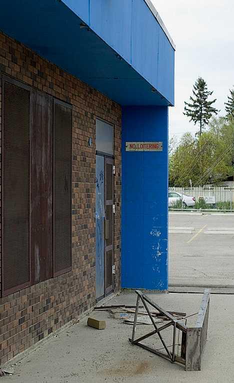 abandoned roller rink Calgary Alberta Canada
