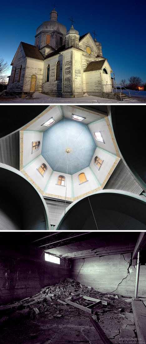 abandoned Spaca Moskalyk Ukrainian Catholic church Alberta Canada