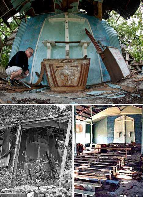 abandoned church Bidong Island