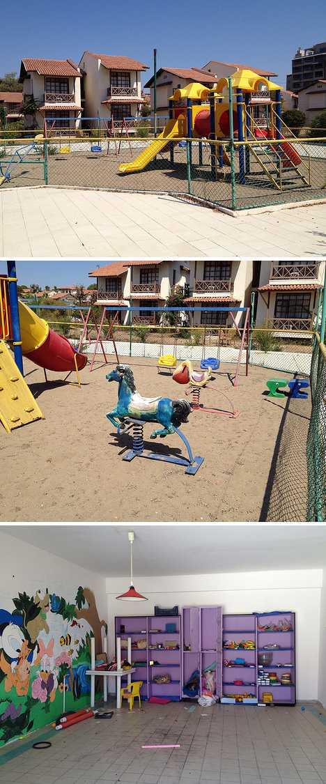 abandoned daycare center Shine resort Belek Turkey