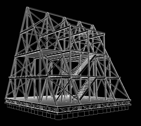 floating building wood frame
