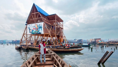 floating school and boat