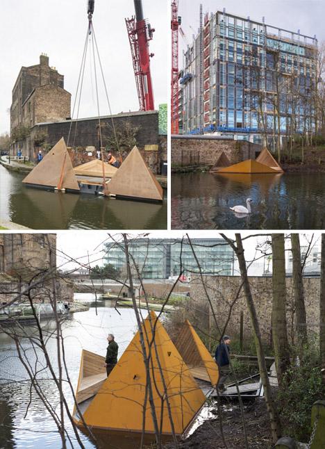floating urban wildlife platform