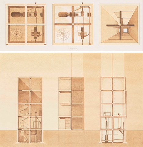 glass concrete home original drawings