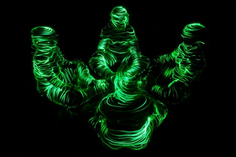 light drawing figures circle