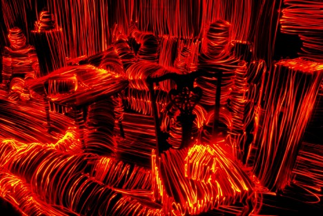 light drawing orange room