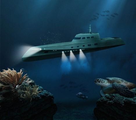 luxury submarine retreat underwater