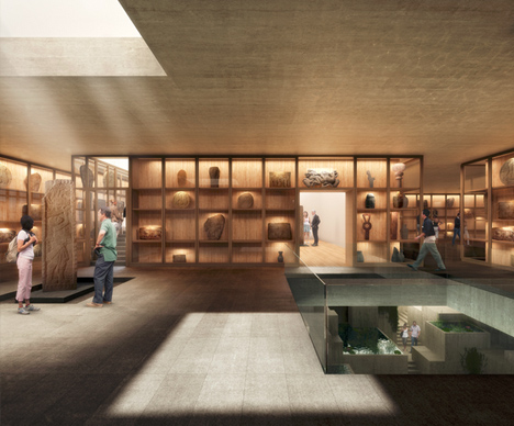 mayan museum gallery room