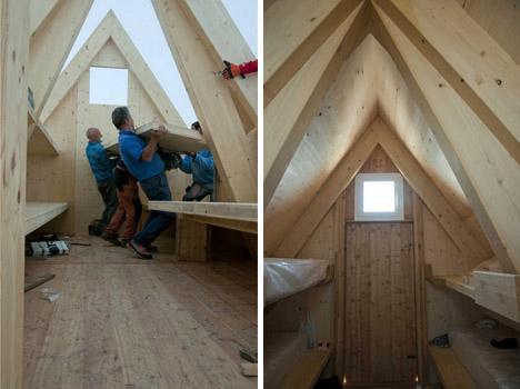 mountain interior construction process