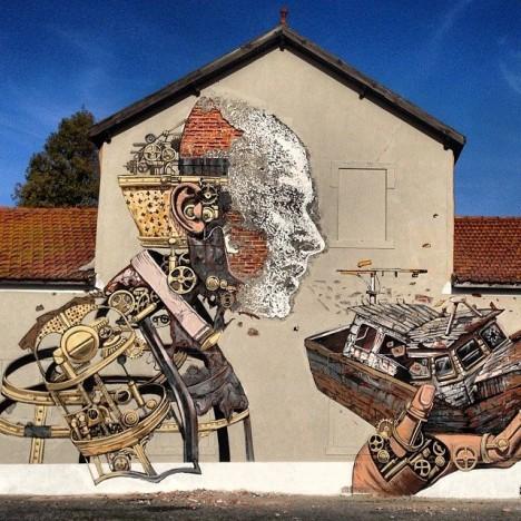mural additive subtractive art