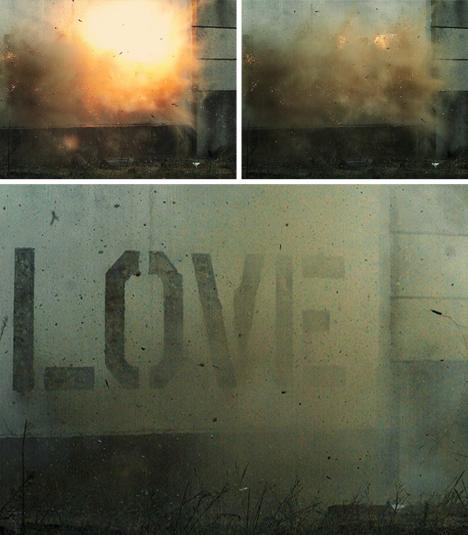 mural explosive wall art