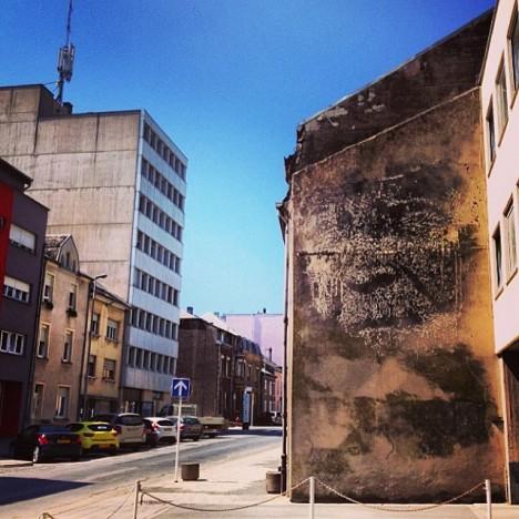 mural in urban context