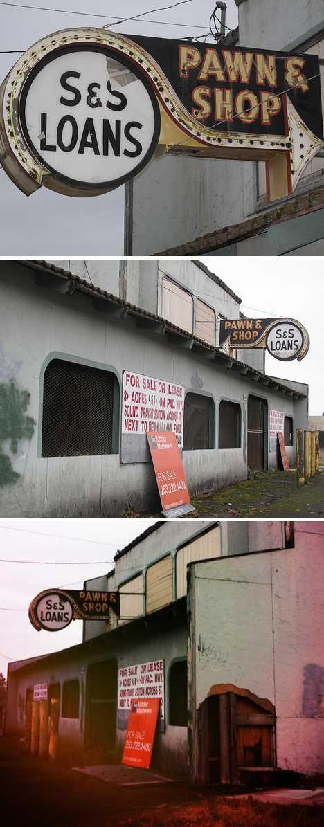 S&S Loans abandoned pawn shop Lakewood WA