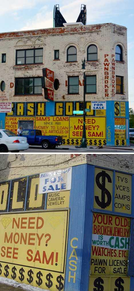 Sam's Loans closed pawnshop Corktown Detroit