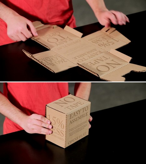 rapid assembly cardboard box