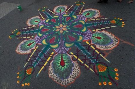 sand art street fractal