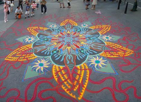 sand public space art