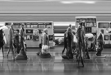 time distorted platform walkers