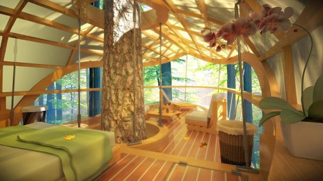 tree house interior view