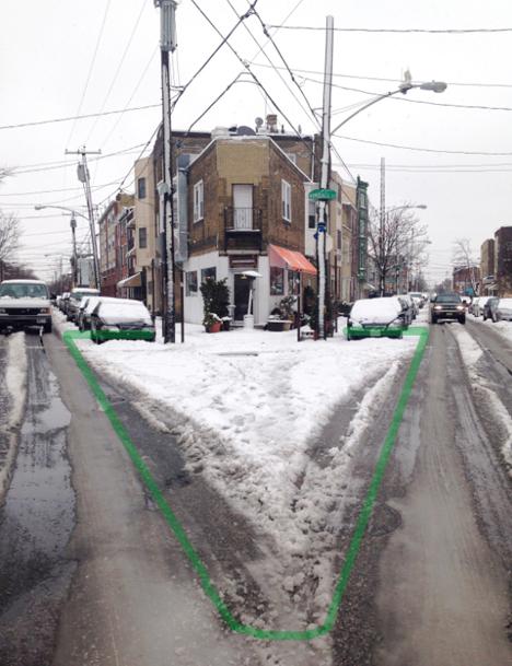 urban snow implied space