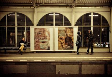 vermibus metro stop art