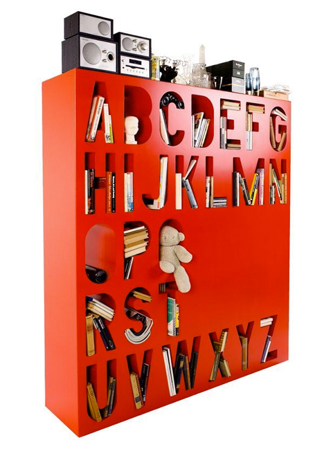 Bookshelf Room Divider Alphabet
