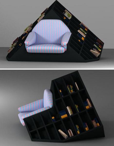 Bookshelf Room Divider Armchair