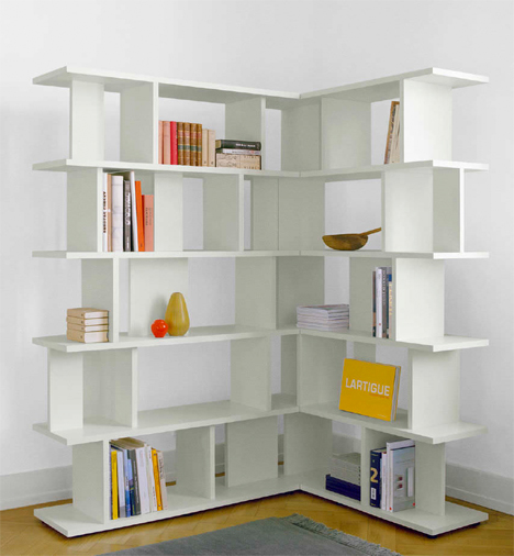 Reading room dividers 13 creative bookshelf designs urbanist - Bookshelves as room divider ...