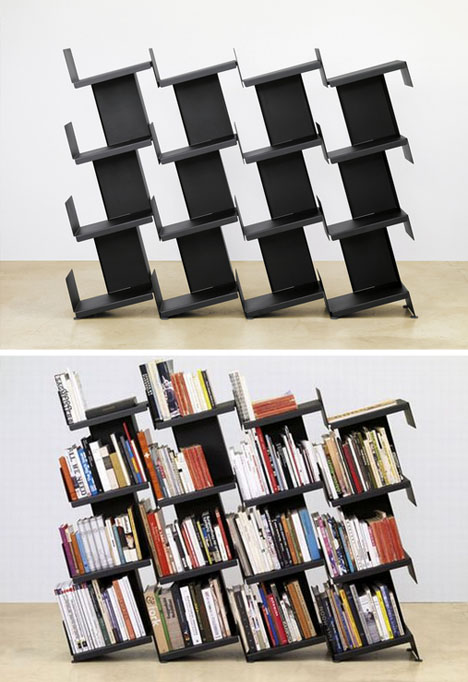 Bookshelf Room Dividers Modern Leaning