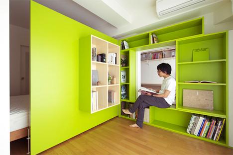 Bookshelf Room Dividers Swinging Shibata